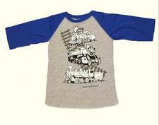 Shirt Y, BB, Metallic Train, Royal Blue, Large - click to view details