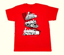 Shirt Y, Metallic Steam Locomotives, Niles Canyon  - click to view details