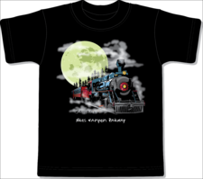 Shirt Y, Moon Train, Black, Small - click to view details