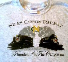 Shirt Y, Thunder in the Canyon,  Ash Gray, Small - click to view details