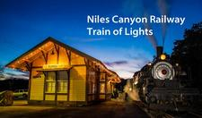 Magnet, photo, Train of Lights, Sunol Depot - click to view details