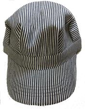 Cap, Adult, Engineer, Blue Striped - click to view details