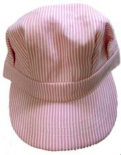 Cap, Adult, Engineer, Pink Striped - click to view details