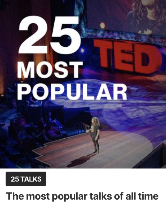 25 Most Popular TED