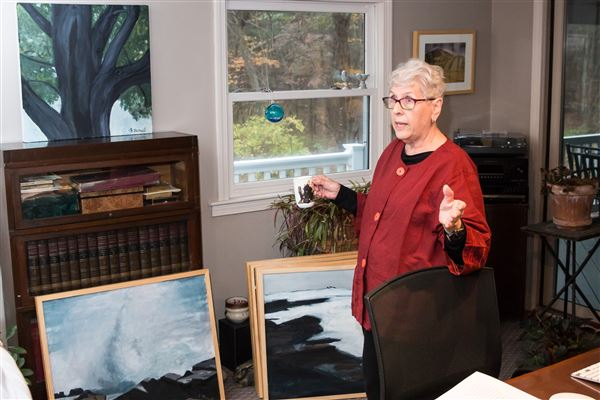 Member Event 11/5/17  Sally Russell, Groton Neighbor member, photographer and painter shared her journey as an artist over light refreshments in her home.