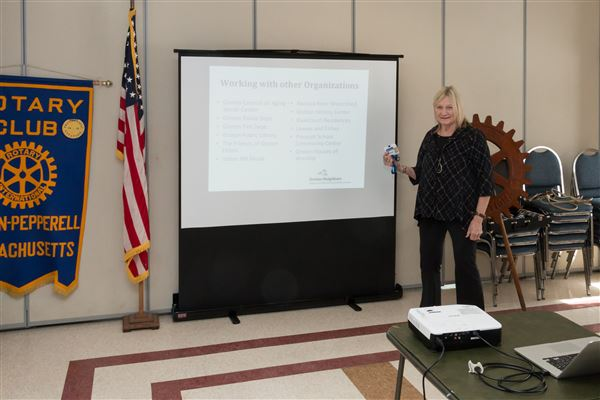 Groton Neighbors presents at Rotary Club Luncheon