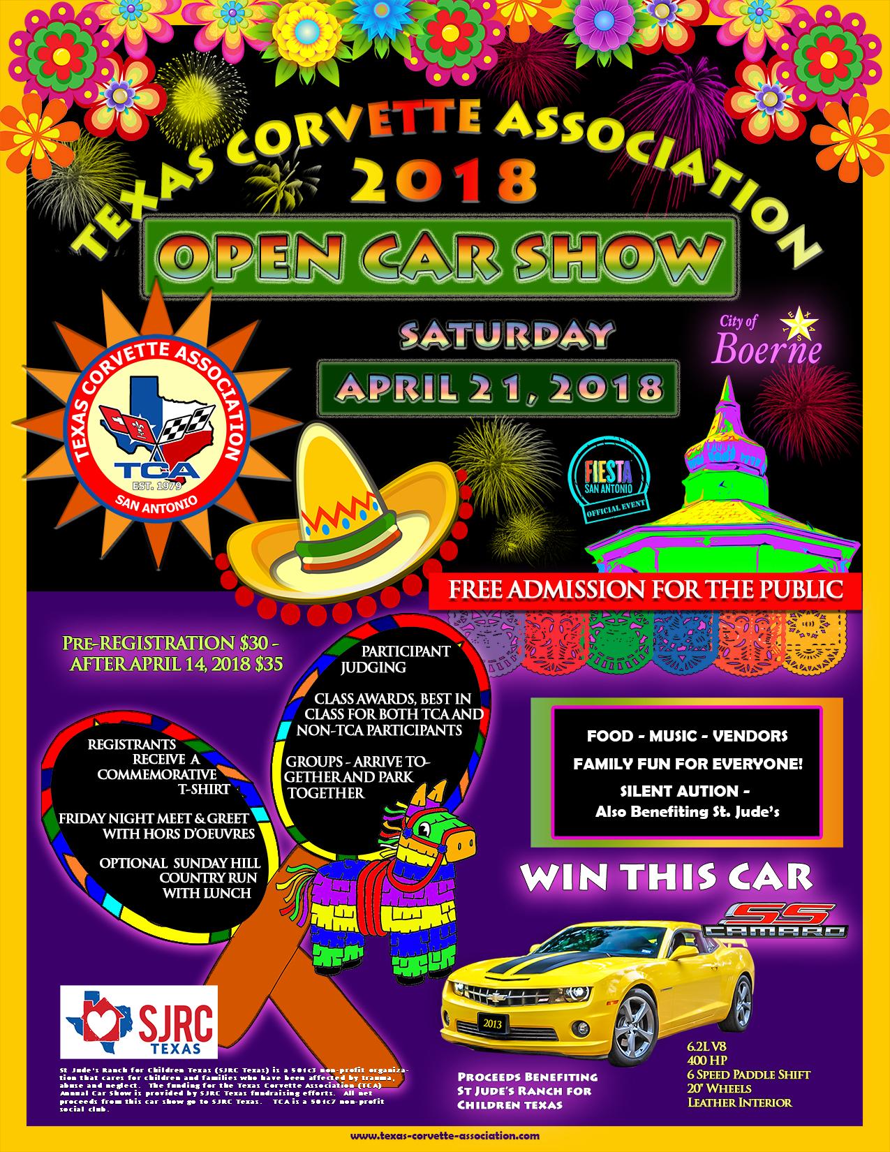 TCA Car Show Texas Corvette Association - Car show san antonio 2018