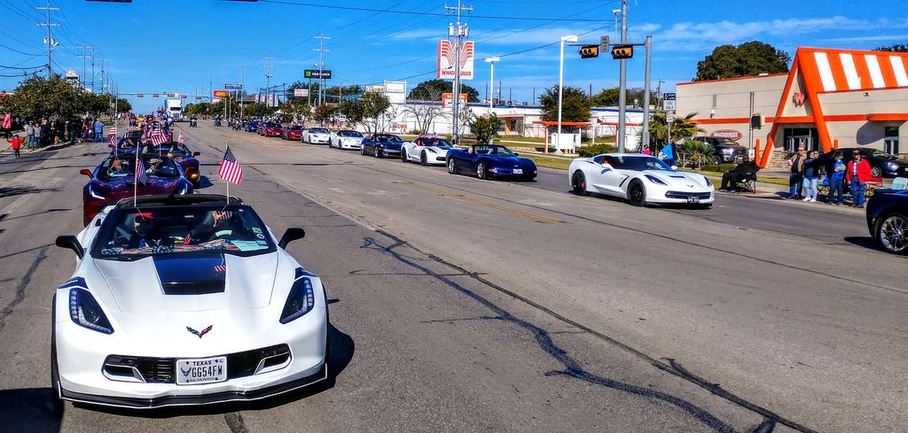 We had a great turn out of Corvettes for the annual Universal City Veterans Day Parade complete with a military flyover and after party dancing.