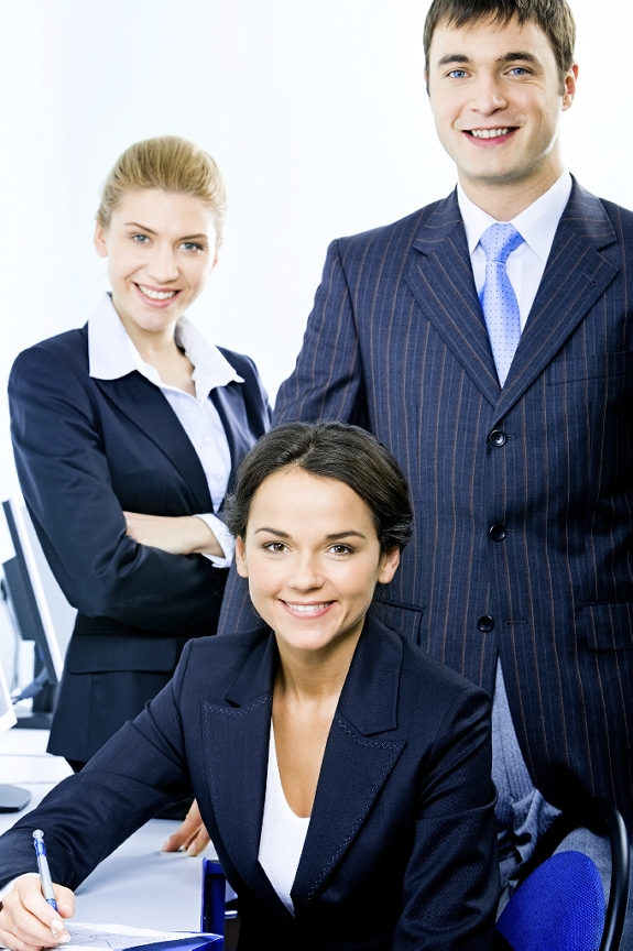 Group of three looking professional