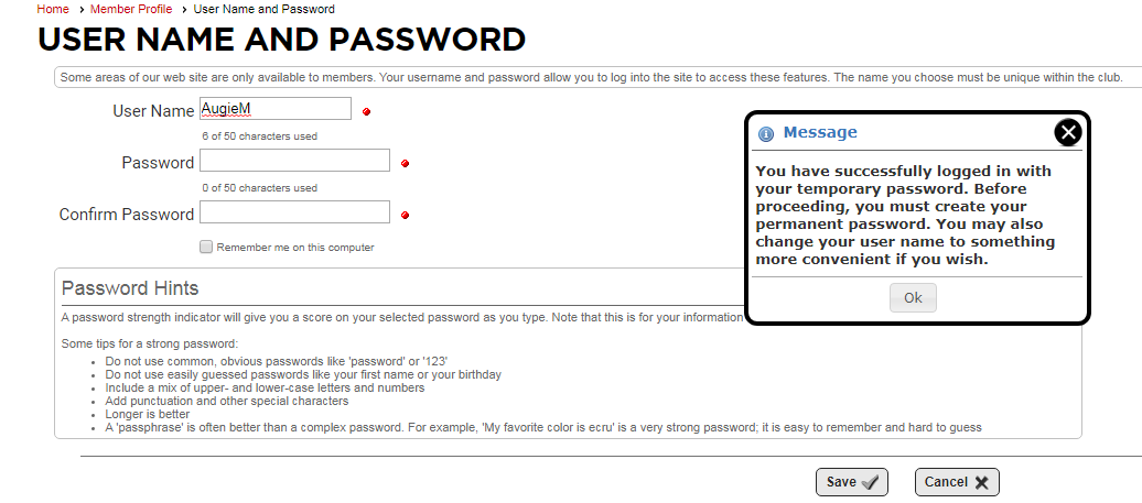 Reset Password Step 5a