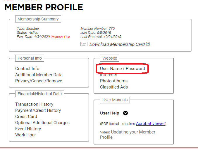 Updating Your Profile and Contact Information Step 2