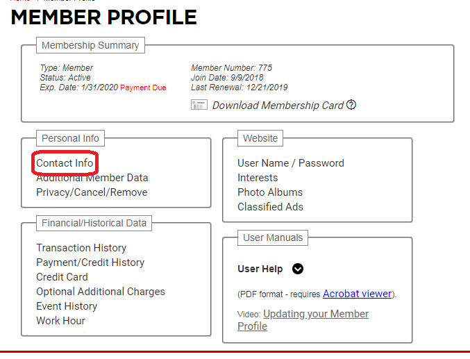 Updating Your Profile and Contact Information Step 3a