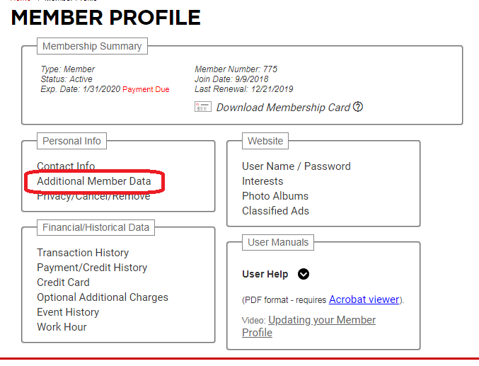 Updating Your Profile and Contact Information Step 3b