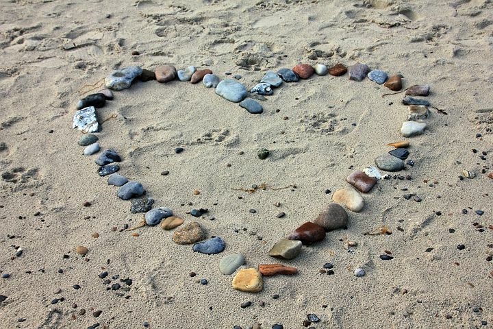 Beach Meditation Heart