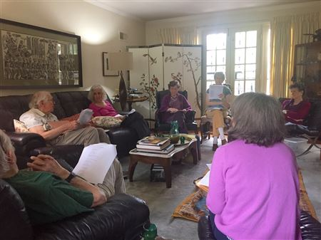 Our members enjoying discussing some lovely poetry.