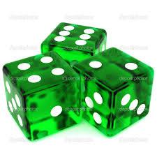 green bunco dice