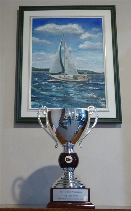 This is a trophy to recognize outstanding achievements of a T34C Skipper.