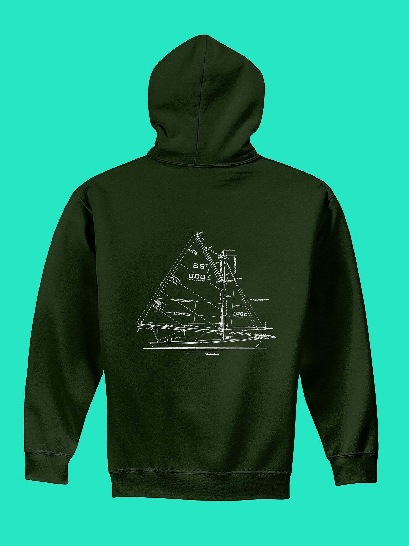 Hunter Green Sweat Shirt with SS Design