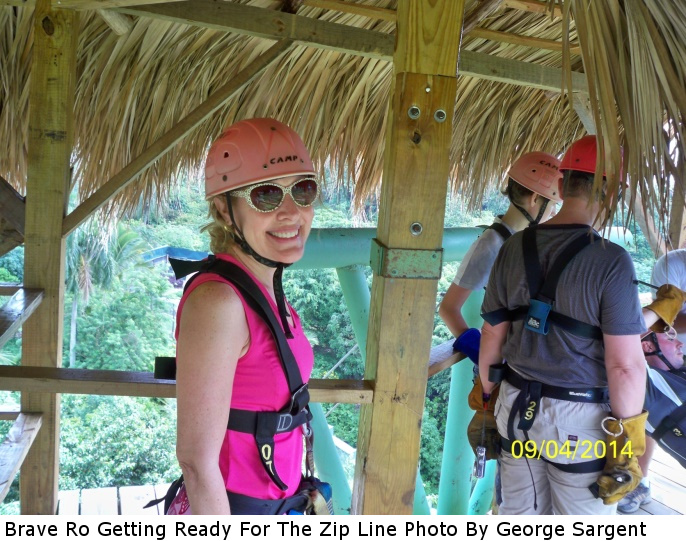 Caribbean-Brave Ro Getting Ready For The Zip Line