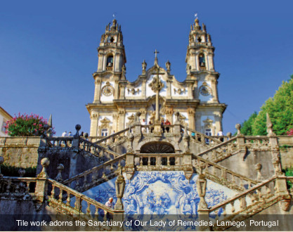 Portugal-Sanctuary of Our Lady of Remedies, Lamego, Portugal