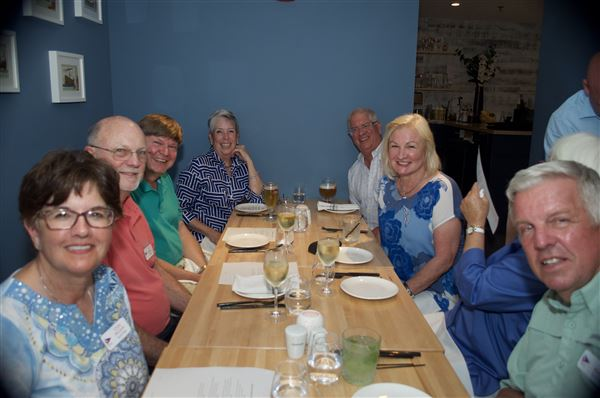 We had a great time at Flamant and Pirates Cove restaurants and welcomed Paul Sherrie Norton as new members