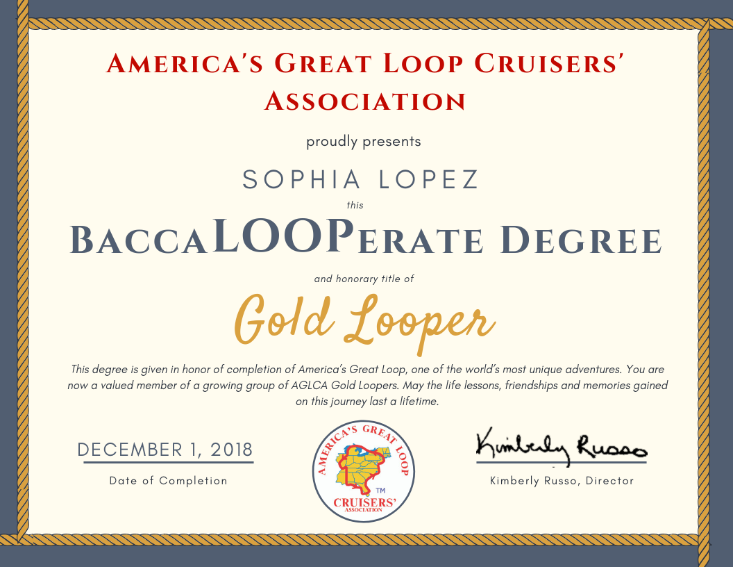 Baccalooperate Degree with Recipient Name