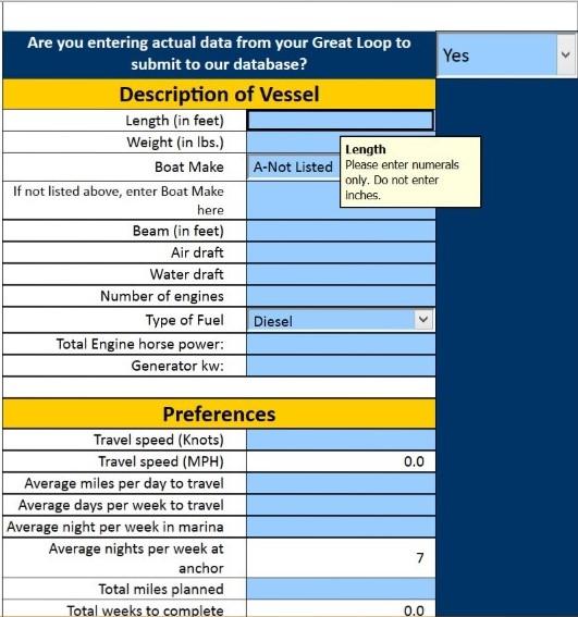 Screen Shot of Cost of Looping Calculator