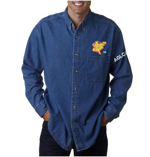 Denim Shirt with Great Loop Logo