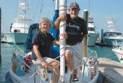 Tom and Patsy Conrad on Their Boat