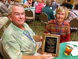 Robert and Kay Creech with Award
