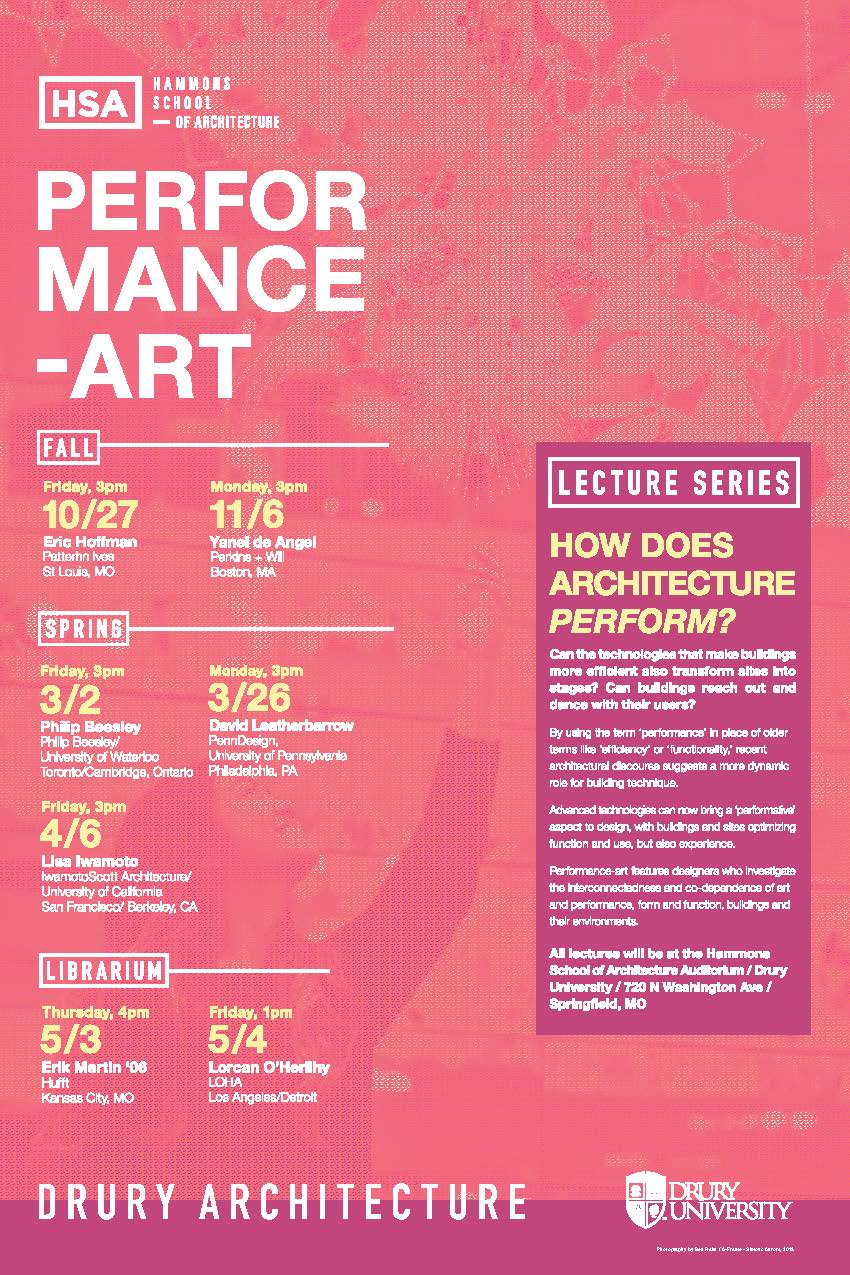 PERFORMANCE-ART HSA 17/18 Lecture Series Flyer