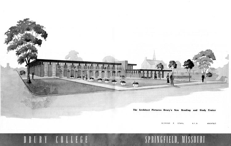 Stahl Drawing Of Drury College