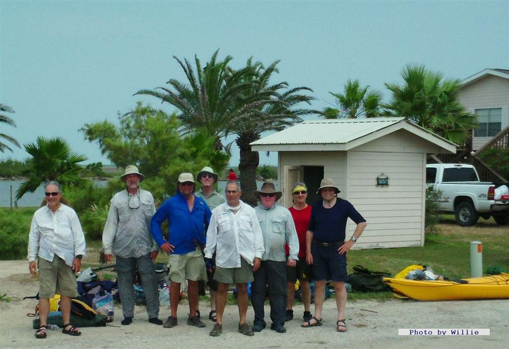 A hearty bunch put in at Sargent, TX and paddled the southside shoreline of E. Matagorday Bay to the highway of Matagorda Beach at the Colorado River.