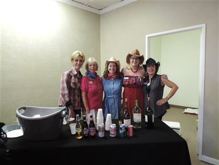 Soroptimist co-hosted the September 2016 Chamber Mixer.  Spaghetti Western was the theme to kick off the upcoming 39th annual Spaghetti Dinner at Harolds.