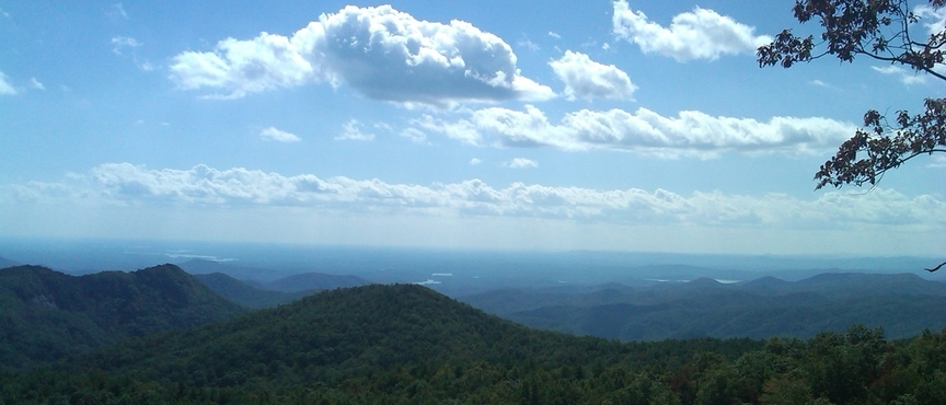 Sassasfras Mtn in South Carolina