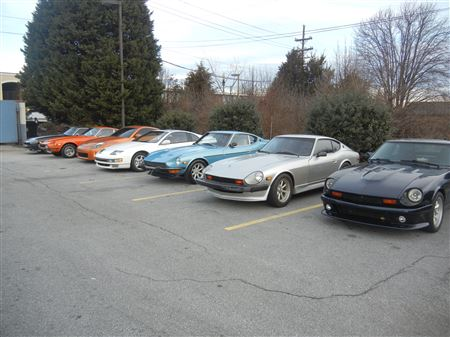 The club attended the January Cars & Coffee.  It was way too cold but we had a good turn out.
