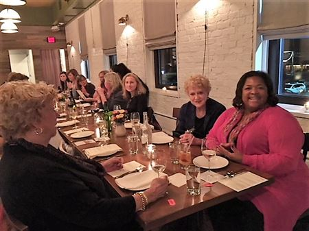 RPWF members enjoyed dinner at the acclaimed Chef & Farmer restaurant in Kinston, NC on Feb. 23, 2018