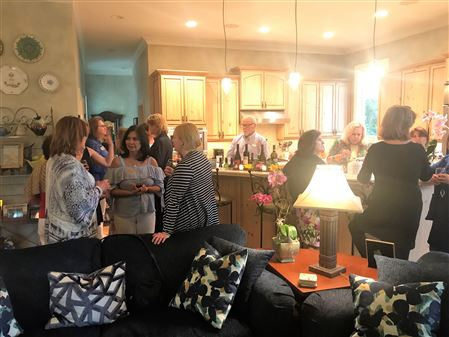 RPWF members gathered at the home of Sherry Essig.