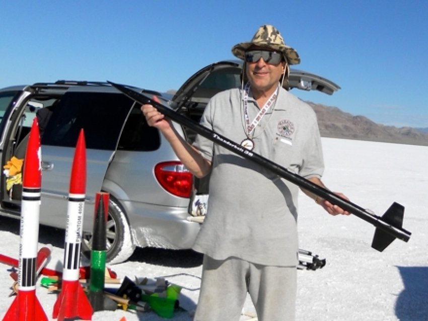 Steve Anderson on the Salt Flats