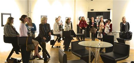Ellevate Network Denver & CO Ivy+Women cross pollinating Holiday Party at Mike Wright Gallery. Collected professional clothes for Dress For Success and bought Holiday Cards from The Gathering Place.