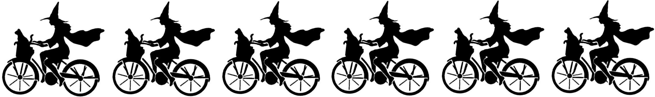 Halloween Bicycle Witches