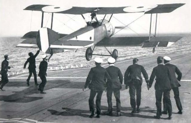 Officers going towards plane - old picture