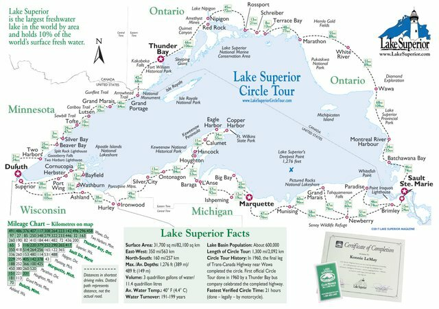 Lk Superior Tour Map