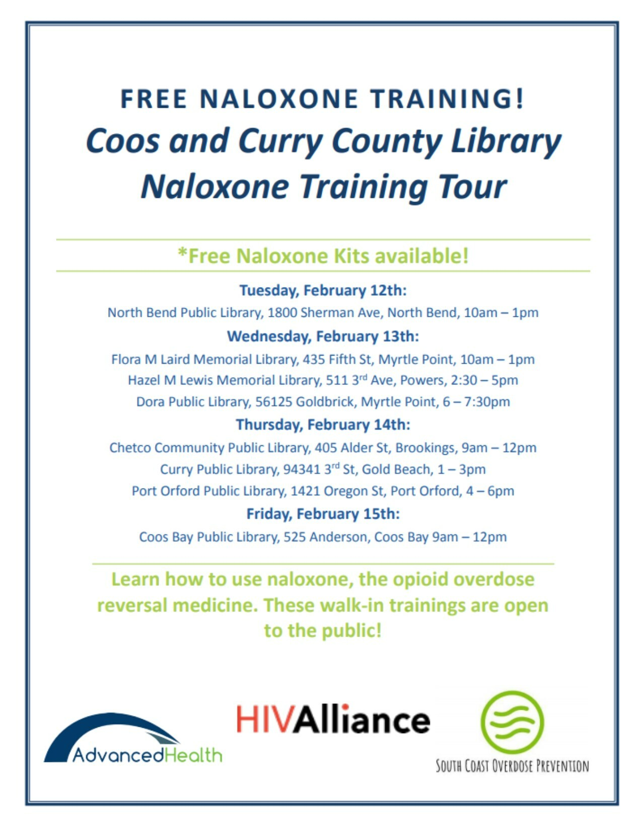 02.14.2019 Naloxone Training