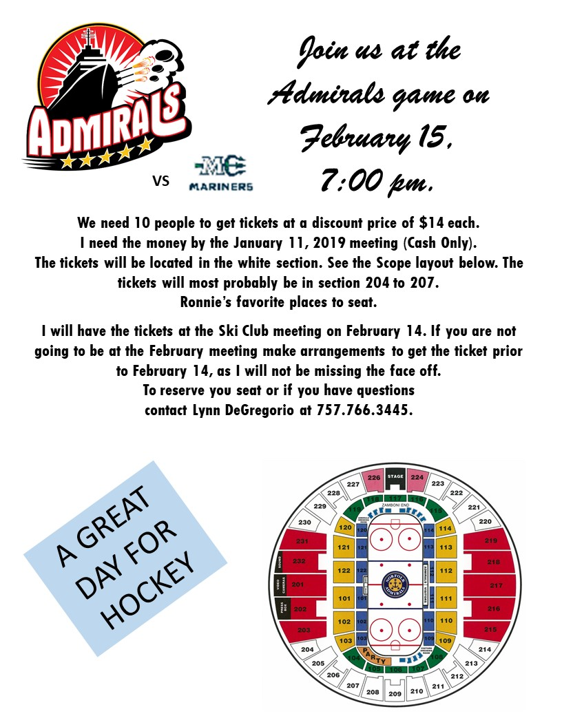 Admirals Hockey Game Feb 15 2019