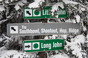 Mount Snow trail signs