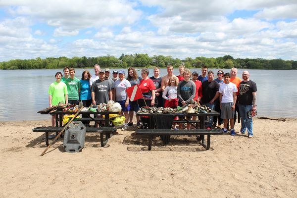 BSA and GLSPS Lake Phalen Cleanup Beach Dive 2019