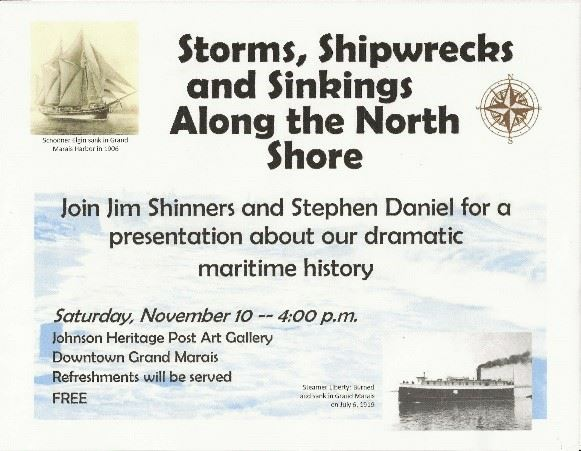 Grand Marais Shipwreck Event 2018