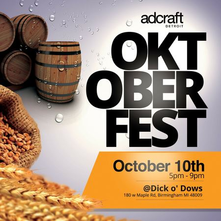 Adcraft's Oktoberfest party has taken over Dick O' Dow's for the last 13 years. This fun evening of networking features authentic German food, beer, music and more! This event takes place in October.