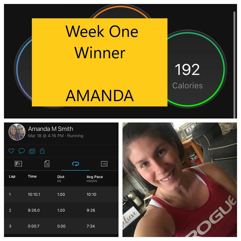 Amanda - Week One Winner
